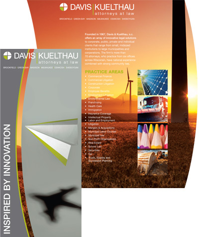 Davis and Kuelthau Die Cut Brochure